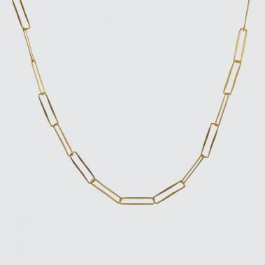 Hammered Paper Clip Chain Link Necklace - Lori McLean
