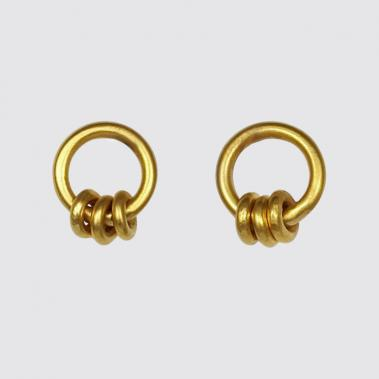 Rings on Ring Stud Earrings - Lori McLean