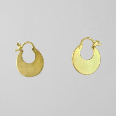 Flat Crescent Hoop Earrings - Lori McLean