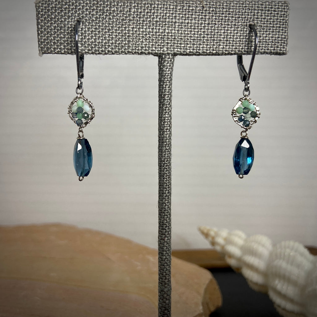 Silver Topaz Drop Earrings
