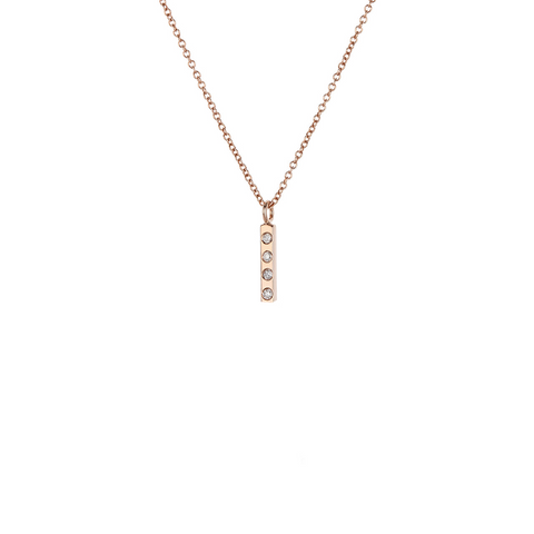Diamond Baby Bar Necklace - Lori McLean