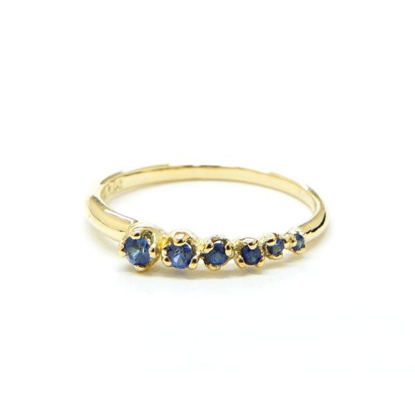 Blue Sapphire Shooting Star Ring - Lori McLean