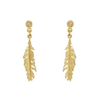 Plume & Champagne Diamond Earrings