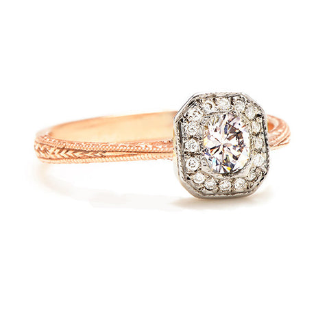 Petite Old Mine Cut Diamond Ring - Lori McLean