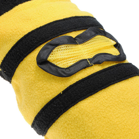 Cut Bumble Bee Cat Dog Clothes Coat Polar Fleece Puppy Dog Coat