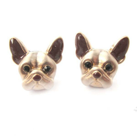 French Bulldog Puppy Face Stud Earrings