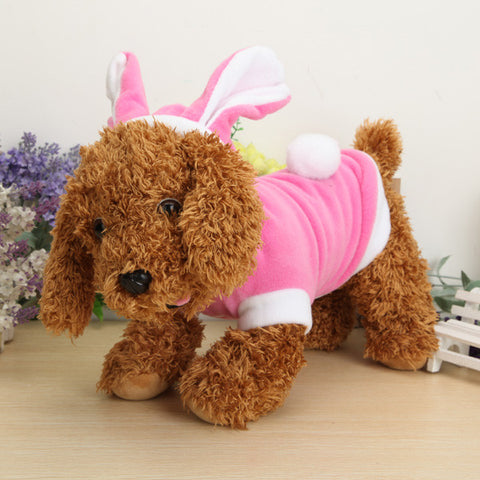 Pink Rabbit Puppy Pet Dog Apparel Costumes Clothes Suit Cat Dog Jacket