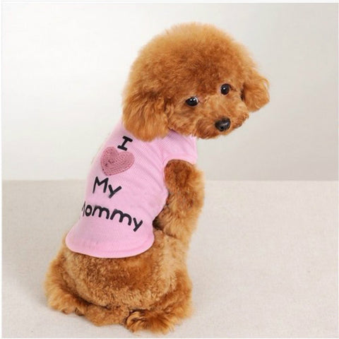 Puppy Dog Summer Vest Waistcoat Cotton Clothes Vest Shirt Coat