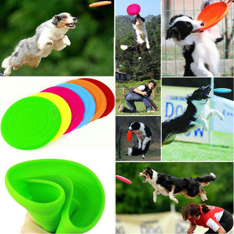 Dog Frisbee Tooth Resistant Flying Disc Outdoor Large Dog Training Toy