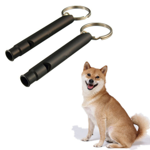 2Pcs Dog Puppy Training Adjustable Sound Whistle