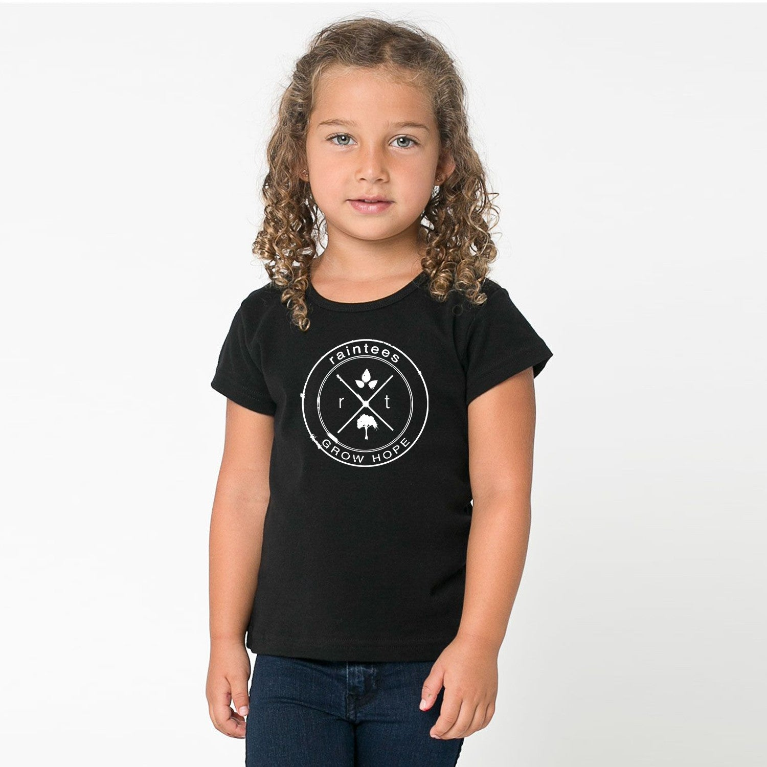 Kids Black Logo Tee