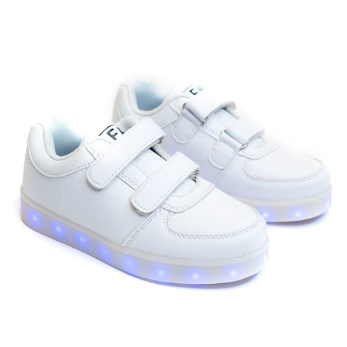 Boys' White Light Up Shoes