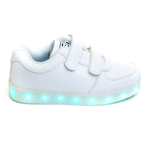 Girls' White Light Up Shoes