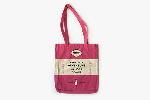 Amateur Adventure Pink Tri-band Tote Bag