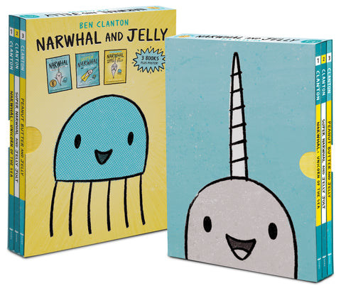Narwhal and Jelly Box Set (Books 1, 2, 3, AND Poster)