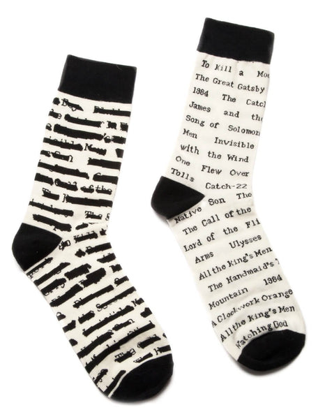 Banned Books Adult Socks