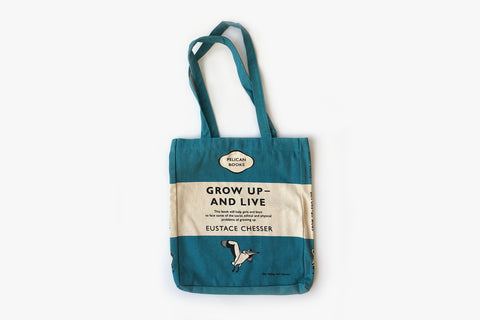 Tote Bag - Grow Up and Live - Blue Tri-band