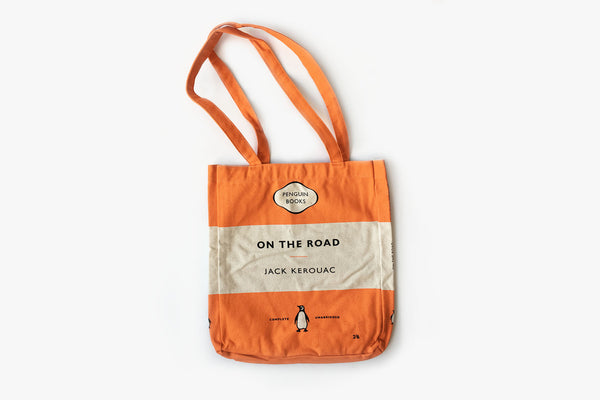 On the Road Orange Tri-band Tote Bag