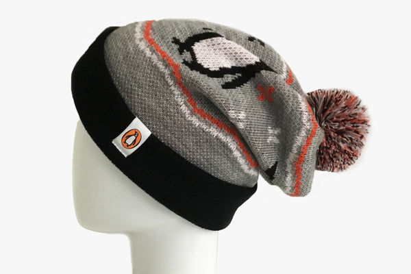 Penguin Shop Toque (side view on mannequin)