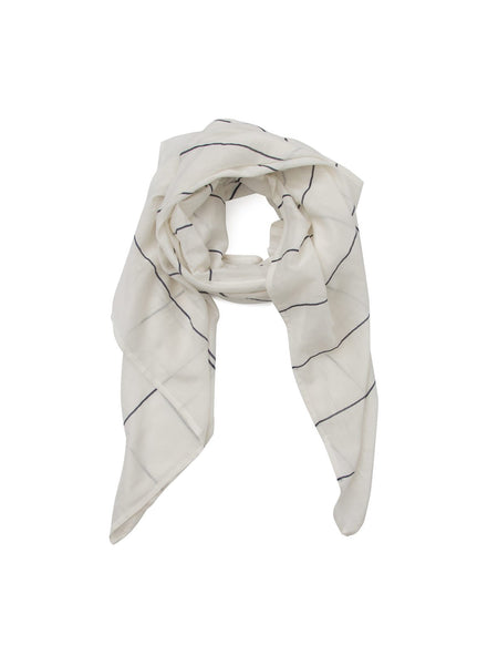 Library Card White Scarf