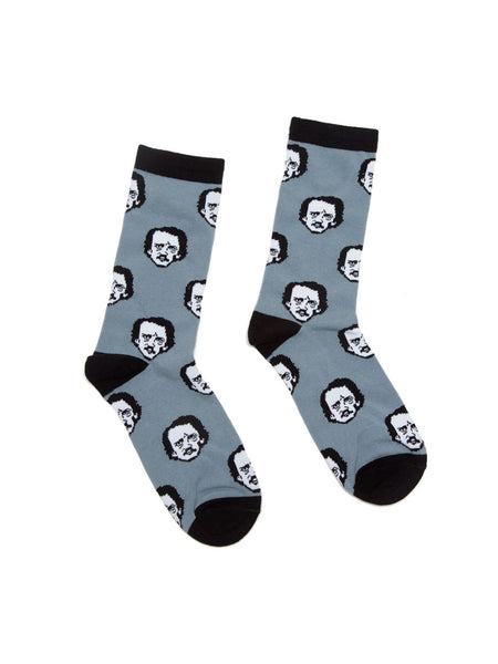 Edgar Allan Poe-ka Dot Adult Socks - Large