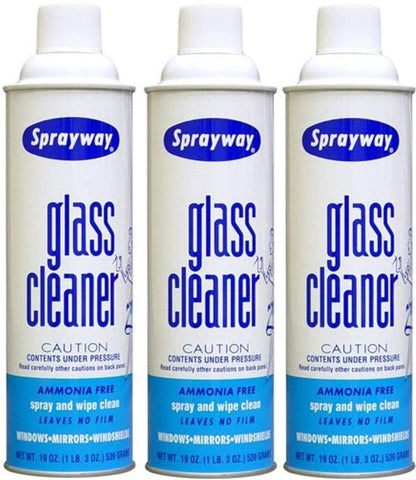Sprayway Glass Cleaner SW-50 19oz - Pack of 3 Cans