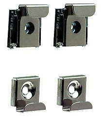 CRL Plastic Lined Mirror Mounting Clips for 1/4'' Glass - Set