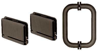 CRL Oil Rubbed Bronze Prima Shower Pull and Hinge Set - PPHS30RB