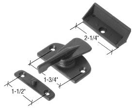 CRL Black Plastic Latch and Pull fits Howard Doors - STB1497
