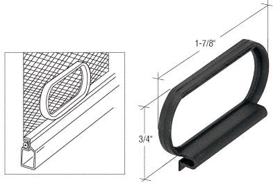 "CRL Black Plastic ""Loop"" Screen Pull Tabs - WSC424B"