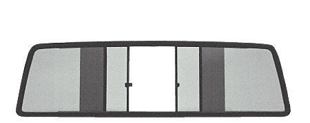 CRL Duo-Vent Four Panel Slider w/ Dark Gray Glass for 1986-1992 Jeep Comanche - EDV700BT