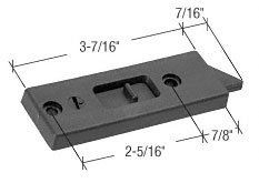 CRL Black Tilt Window Latch; 2-5/16'' Screw Holes - Package