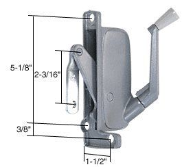 CRL Right Hand Awning Window Operator for Miami Windows