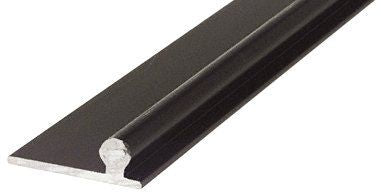 CRL Bronze Sliding Glass Door Replacement Rail - 72 in long