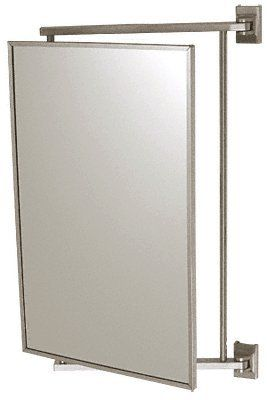 "CRL Brushed Nickel 14"" x 22"" Pivot-N-View Mirror - PV14BN"