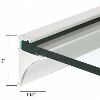 CRL 36'' Brite Anodized Aluminum Shelving Extrusion for 1/4'' Glass