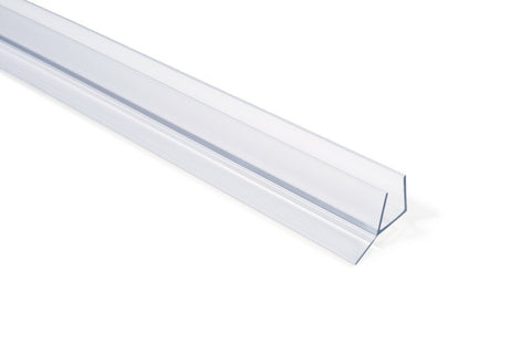 "Frameless Shower Door Seal w/ wipe for 3/8"" Glass - 90"""