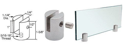 CRL Satin Chrome Slot Mount Standoff for 1/4'' Panels
