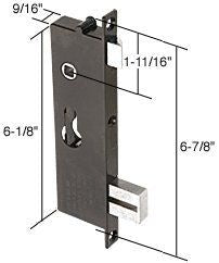 Screen and Storm Door Mortise Lock Insert 6-7/8'' Screw Holes
