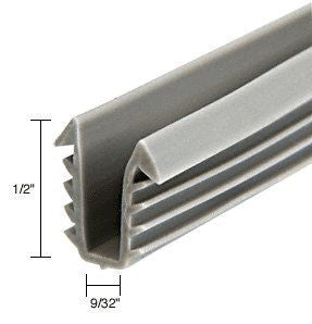 CRL Glazing Vinyl; 1/2'' Channel Depth; 1/4'' to 19/64'' Metal Opening - 100 ft Roll