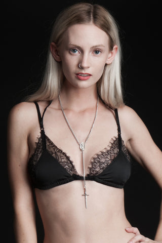 Black Tryst Lamia Lace Bra Top