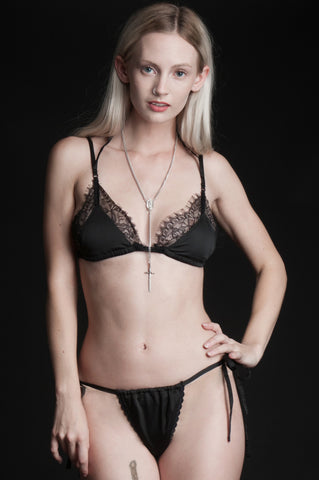 Black Tryst Perephone Lace Mini Thong