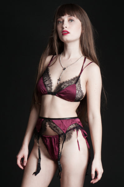 Wine Tryst Lamia Lace Bra Top