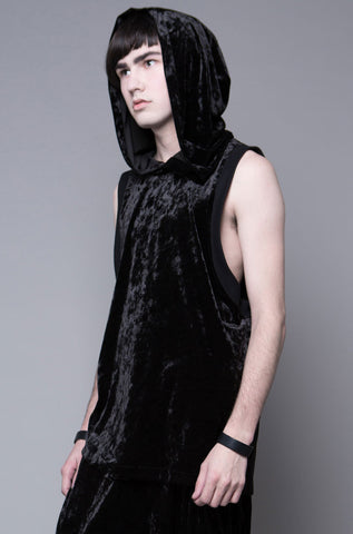 Heaven Knows Crushed Velvet Hooded Top