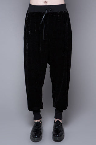 Panther Crushed Velvet Drop-Rise Sweatpant