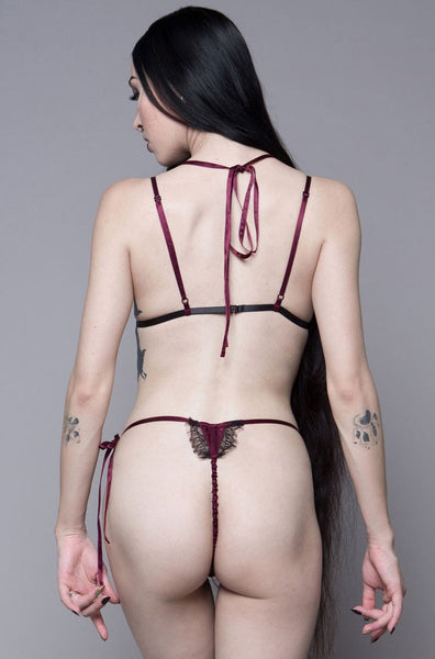 Wine Tryst Perephone Lace Mini Thong