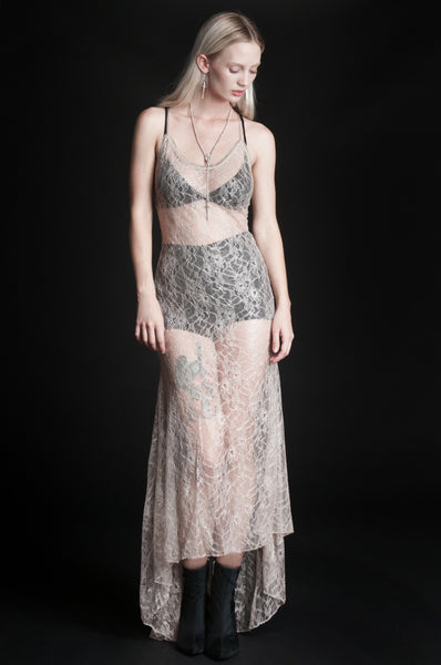 Midnight Hour Slip Dress - Nude
