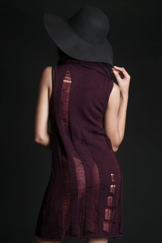Bordeaux Knit Dress