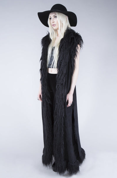 Chill of the Night Faux Fur Vest