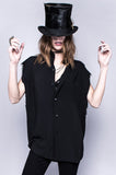 Black In Vain Unisex Rayon Button Up Top
